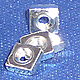 NQ0256 - 2-56 - Square Nuts -Steel with Zinc Plate 100 pcs/pkg